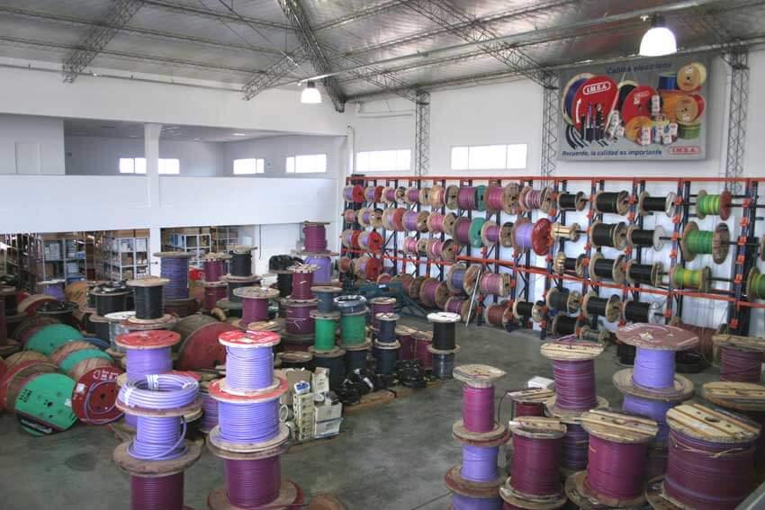 Depósito de cables industriales